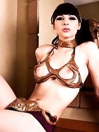 Irresistible transsexual Bailey Jay posing