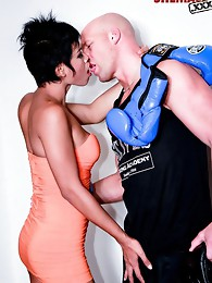 Ladyboy pounded by hung stud